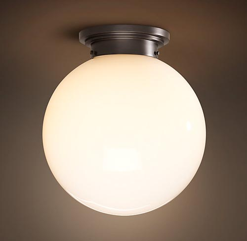 A Flush Mount Light For The Office THE PLACE HOME