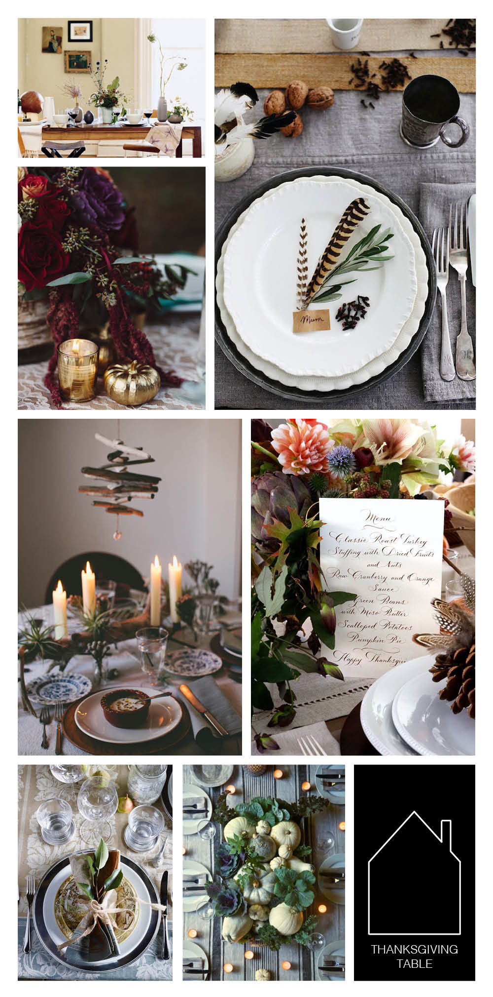 from top left - photo by Ditte Isager via Domino - via Sacramento Street - via Glitter Guide - via A Blog Named Scout - via Honestly Yum - via William-Sonoma - via Ritzy Bee