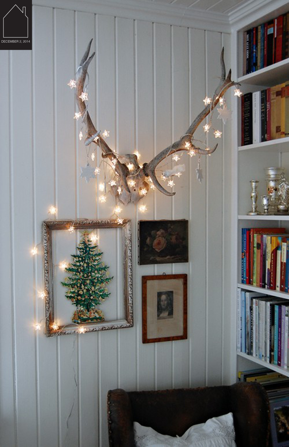 twinkle lights via  Birch + Bird Vintage