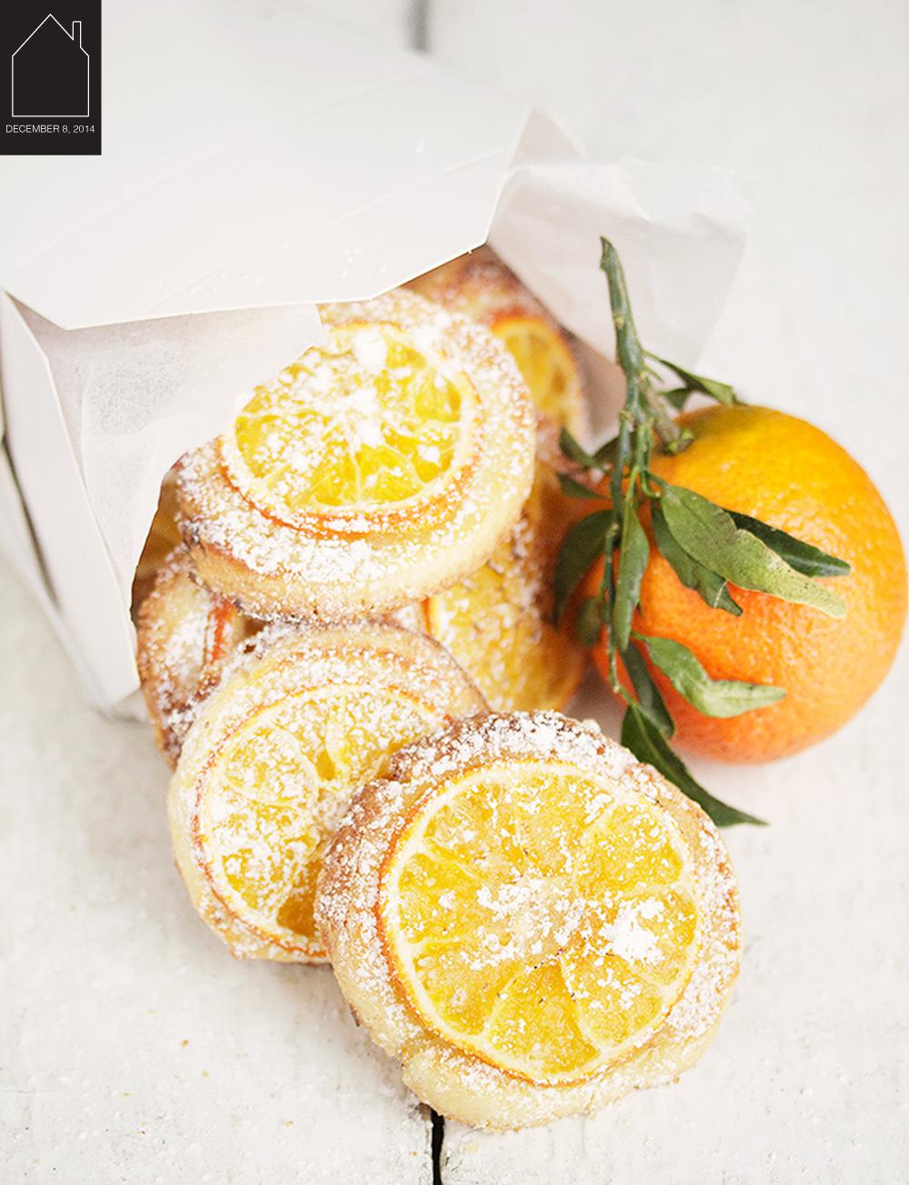 Mandarin Orange Tea Cookies  via  Seasons & Suppers