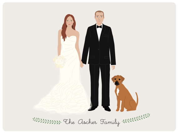 Custom Couple Portrait by Henry James Papergoods