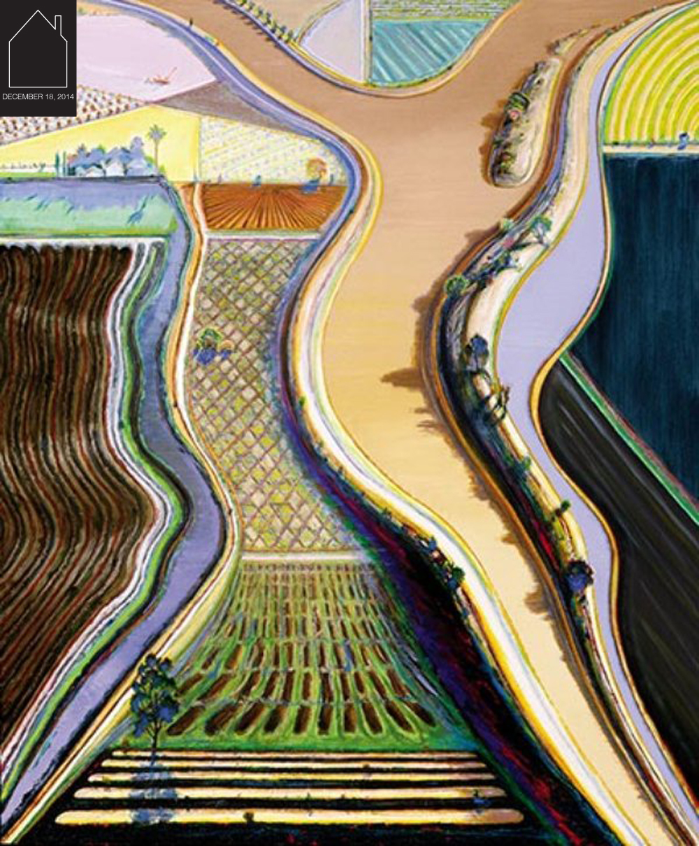Brown River - 2002 - Wayne Theibaud via Smithsonian