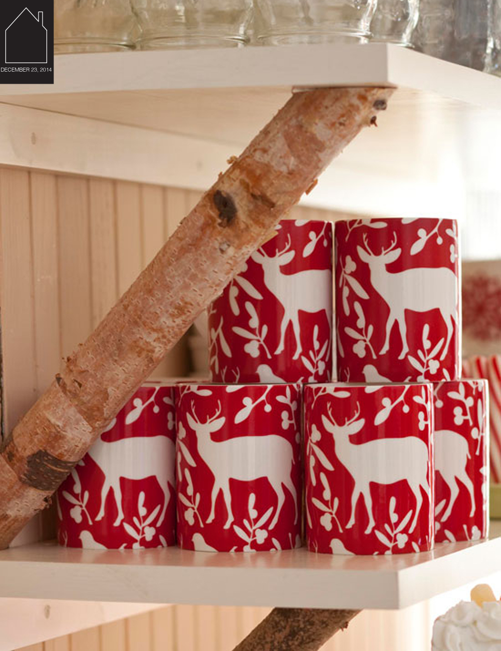 reindeer mugs - photo by John Bessler - via Traditional Home