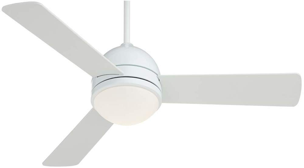 "44"" Casa Vieja Trifecta White Ceiling Fan  via Lamps Plus"