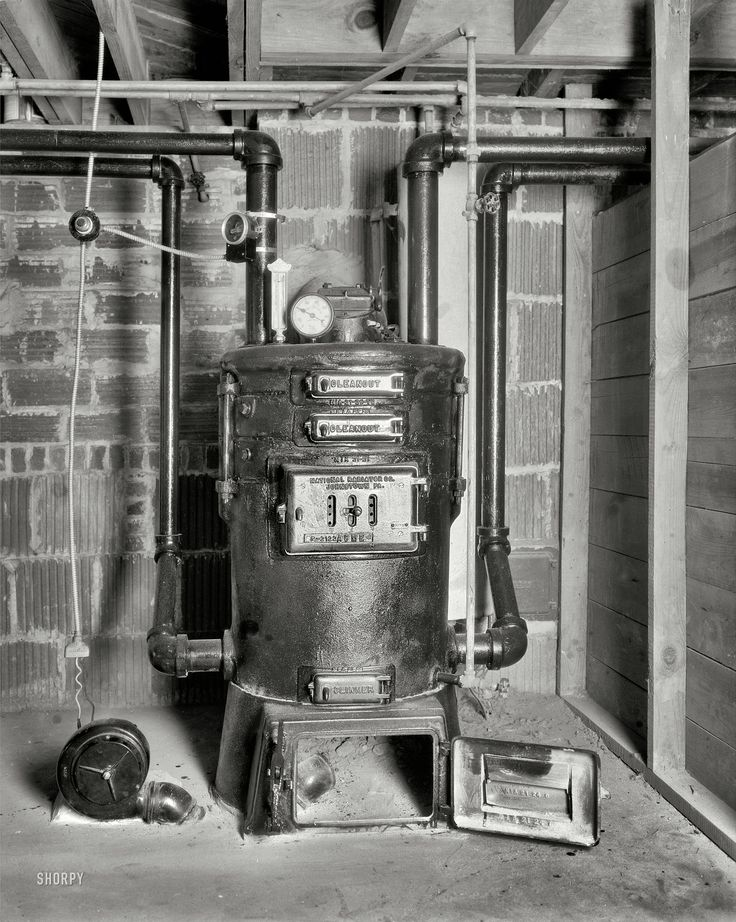hot water boiler from 1932 via Shorpy