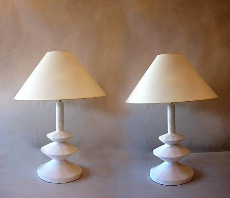 plaster lamps by Jacques Grange for Yves Saint Laurent via  1st Dibs