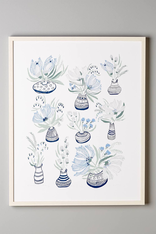 Bouquets En Vase Print by Lulie Wallace