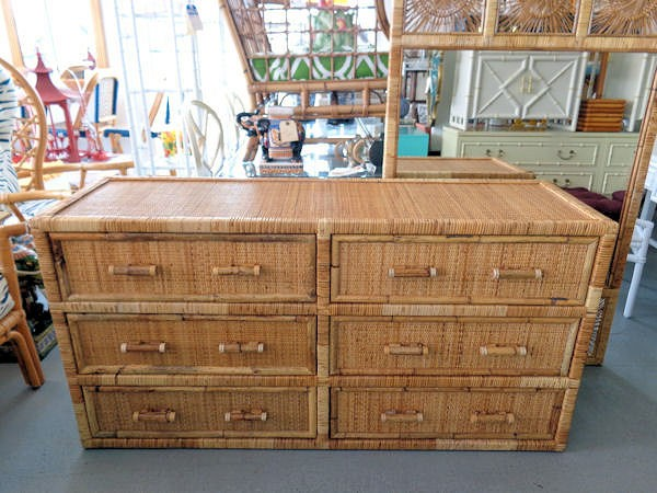 Woven Rattan Double Dresser  via Circa Who