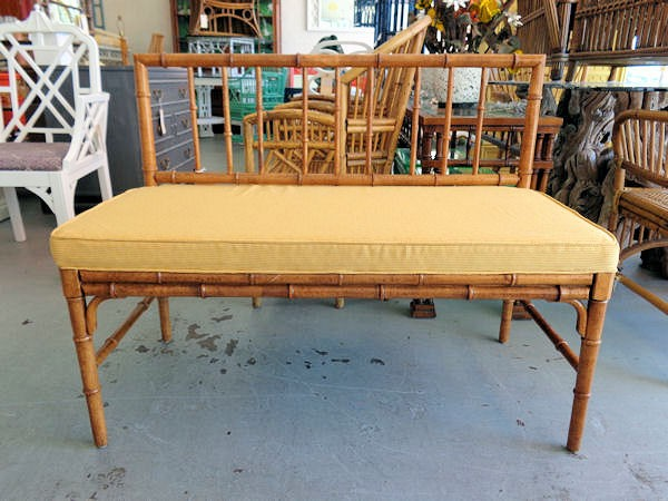 Faux Bamboo Bench via Circa Who