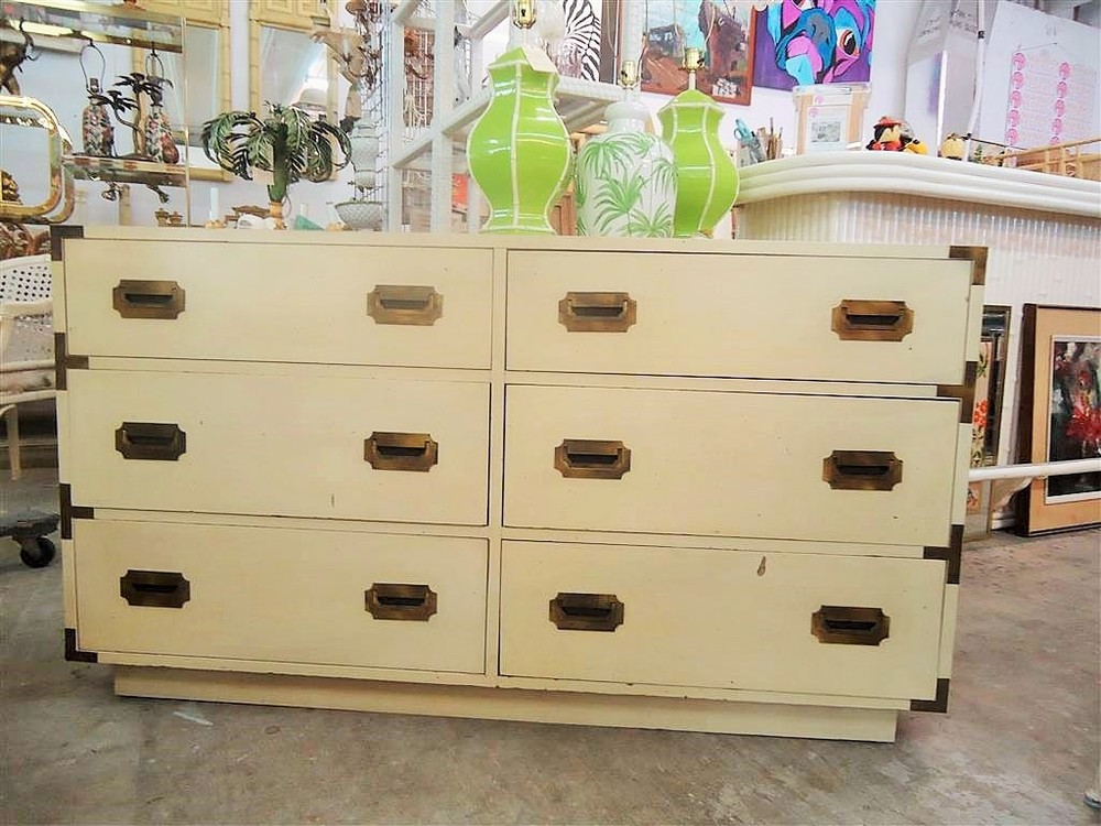 Chic Campaign Double Dresser  via Palm Beach Regency