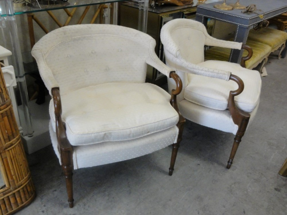 Hollywood Regency Lounge Chairs  via Palm Beach Regency