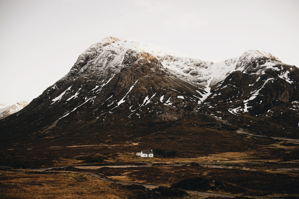 Lagangarbh hut  in Buachaille Etive Mor near the River Coupall, Scotland