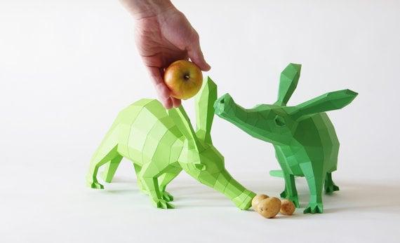 Papercraft Aardvark