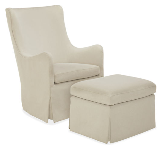 ellerly swivel glider chair  by Room & Board