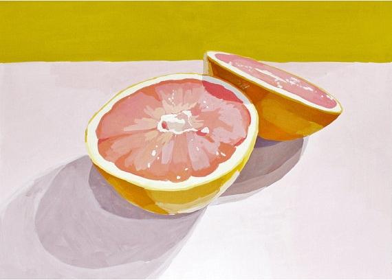 "Elizabeth Mayville - 5"" x 7"" print - ""Grapefruit 12"""