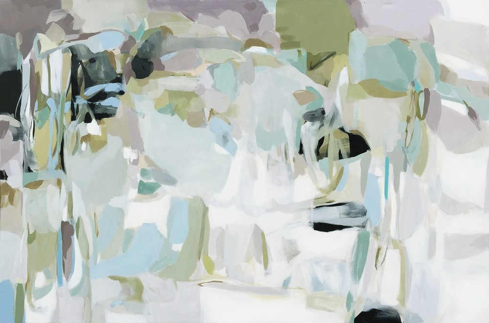 "Christina Baker -  Back Roads  - Acrylic - 48"" x 72"" - 2015"