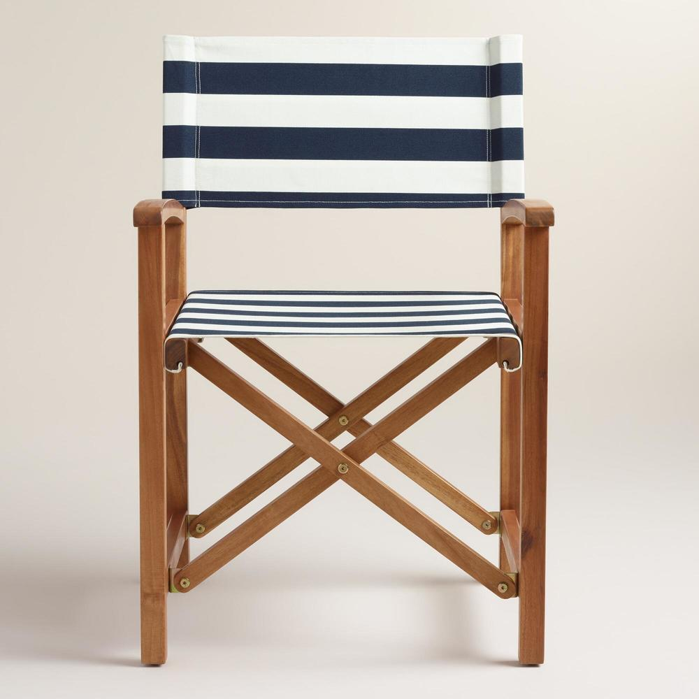 blue stripe chair canvas | THE PLACE HOME