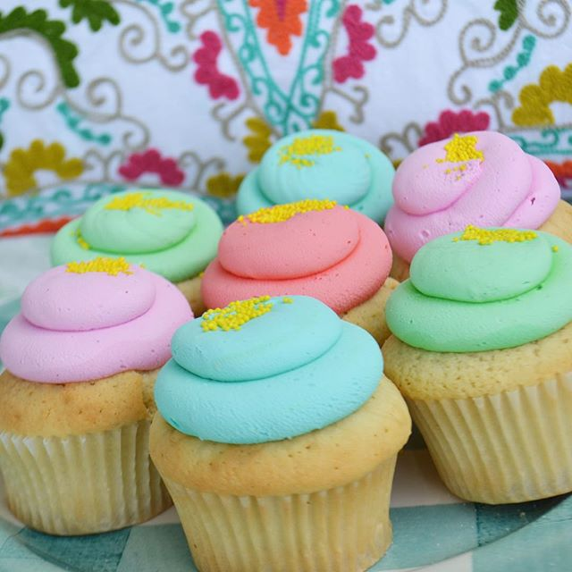 Spring Colors for a boho inspired picnic. #cupcakes #bohostyle #picnic #picnicfood #bakesaletoronto #foodphotography