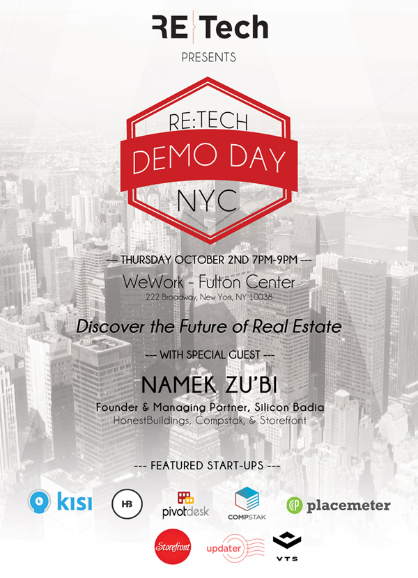 RE:Tech NYC - Thursday October 2nd @ WeWork - Fulton Center
