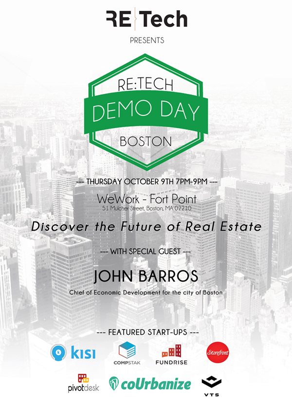 RE:Tech Boston - Thursday October 9th @ WeWork - Fort Point