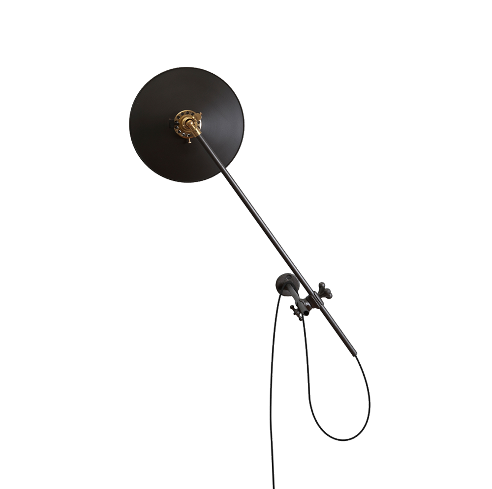 Bent Wall Lamp in Black. $1,150.00. Asher + Rye