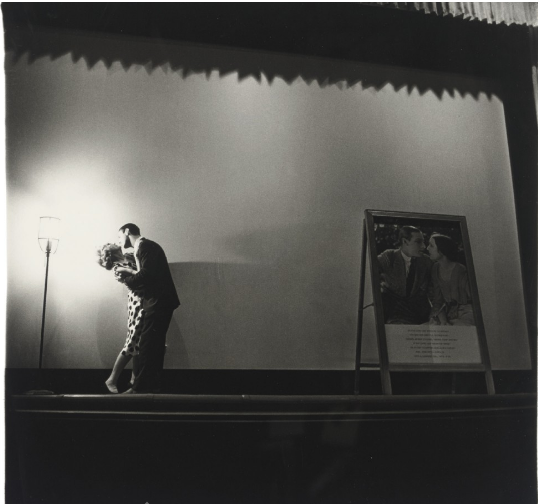 Diane Arbus - A Couple Kissing on Stage, N.Y.C., 1963