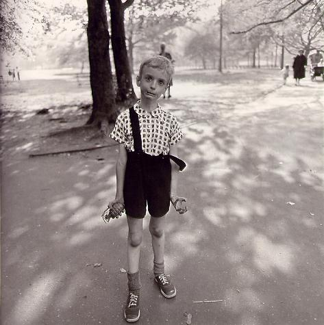 Child with Toy Hand Grenade in Central Park, New York City (1962)