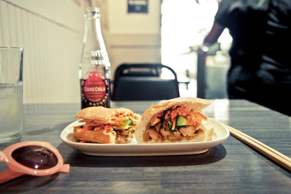 Sunglasses : Forever 21     Sandwich : Baoguette , NYC