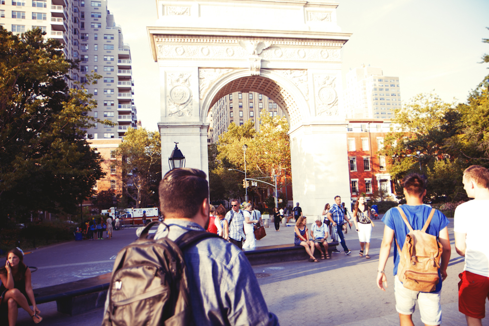 """Washington Square Arch: it was to celebrate the bicentennial of George Washington's inauguration, originally made out of wood and paper mâché but they later changed it stone."" - Alexis"