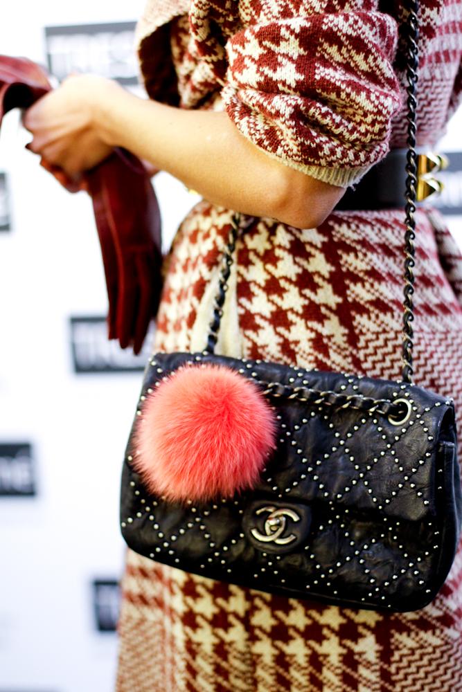 Chanel Bagsimilar :  here  or  here //Long Leather Gloves :  Portolano // Pom Pom Key Ring :  DKNY or  FENDI