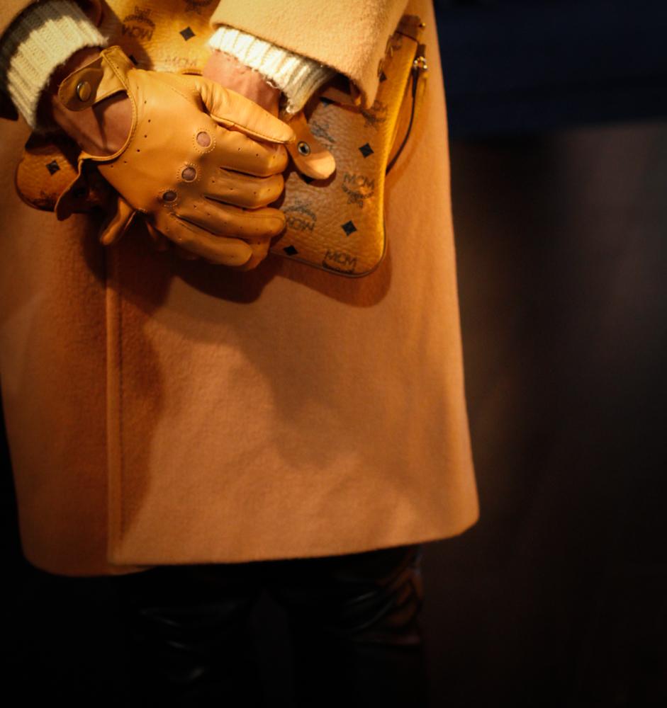 MCM  Shoulder Bag  or  Pouch // Cut-Off Driving Gloves :  Karmaloop