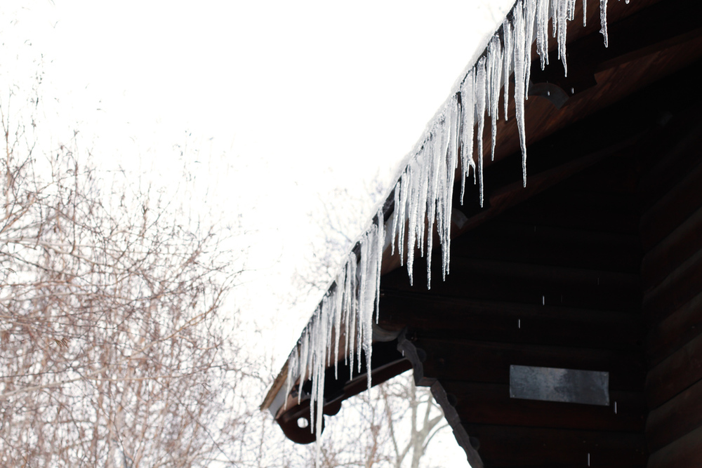 Icicles on the Swedish Cottage in Central Park