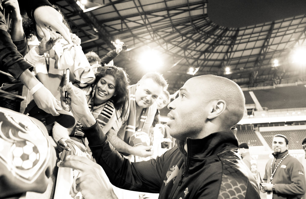 Meet Your Idol     Following footballer Thierry Henry & fans during a meet and greet.