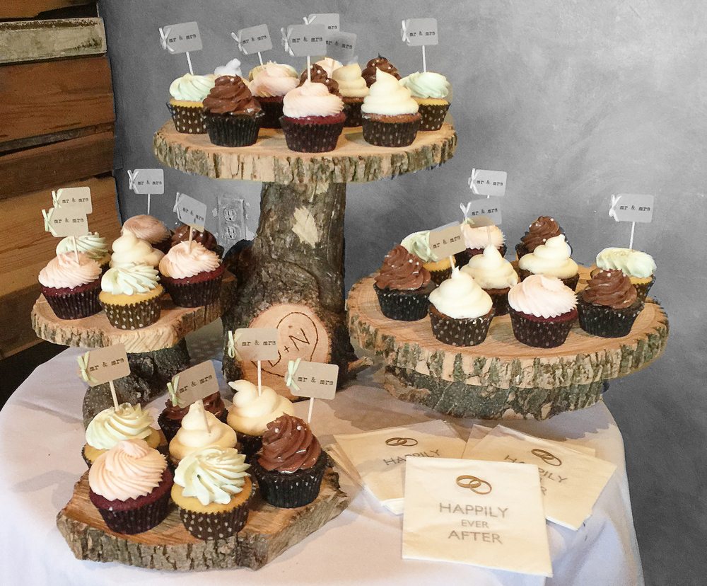 Tree Stump Cupcake display