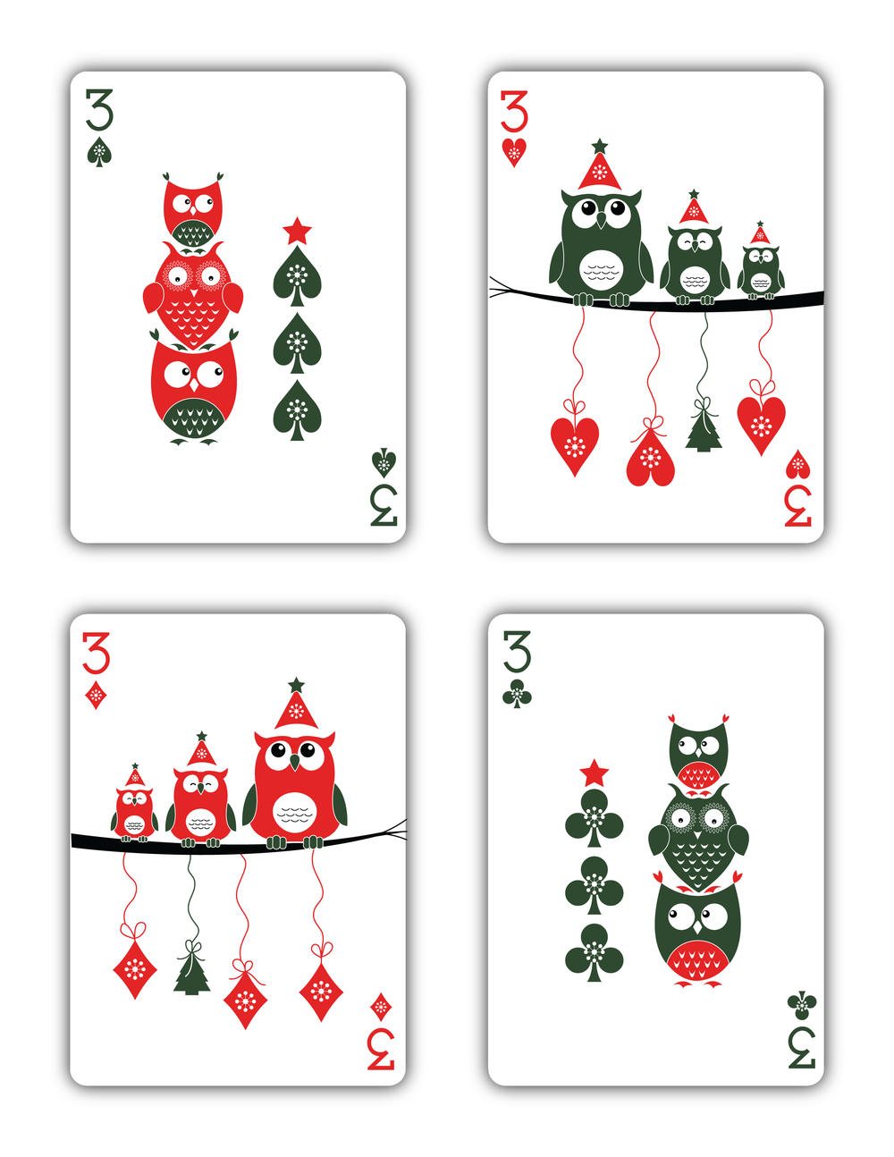 Christmas Playing Cards Printed By USPCC Natalia Silva