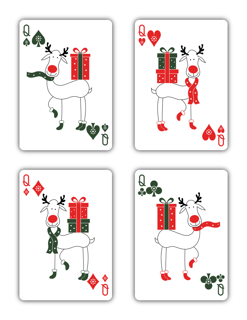Quot Christmas Quot Playing Cards 2015 Printed By Uspcc Natalia