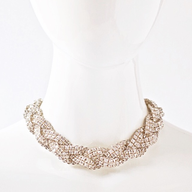CHOKERS Collection of braided rhinestone and velvet chokers. shop this collection