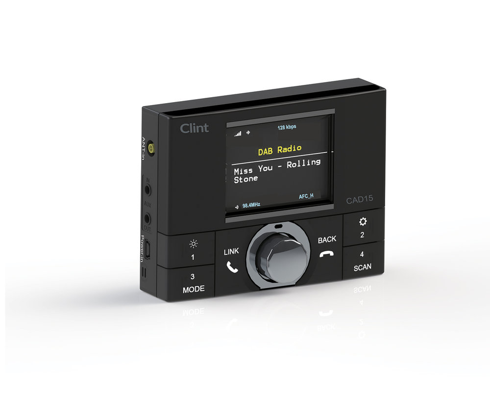 CAD15 in-Car DAB+ Radio w/ FM transmitter Upgrade your car stereo with DAB+/Bluetooth/Handsfree