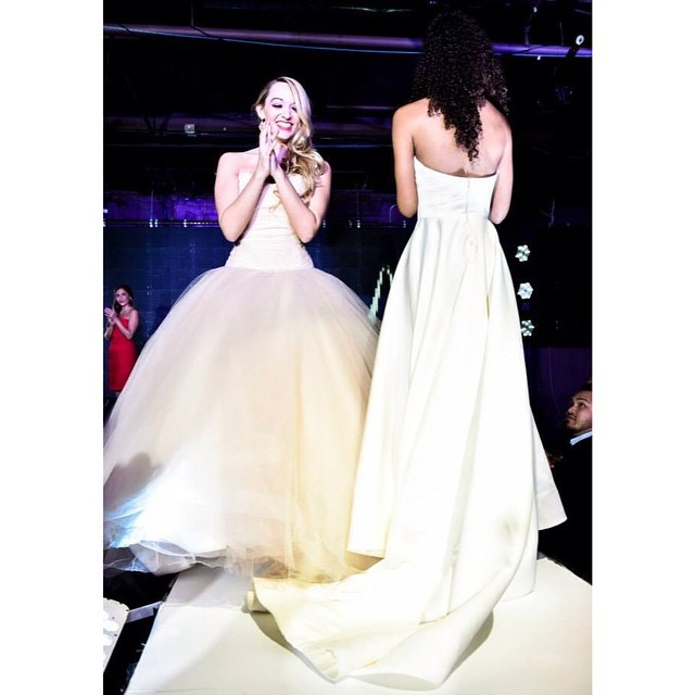 Carley and Erika wearing Atelier Newman Howell.