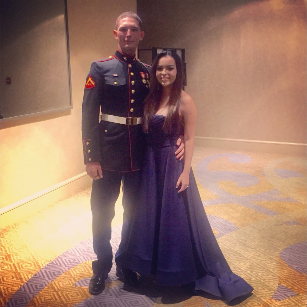 Morgan and Beau at the Marine Corps Ball.