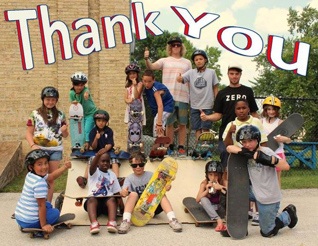 Thanks to everyone who donated skateboards. It really made some kids happy.