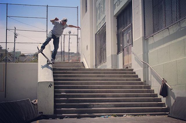 #throwback to that time that @920lardo #bluntslid #clipper #hubba #skate #skateboarding #skatewisconsin