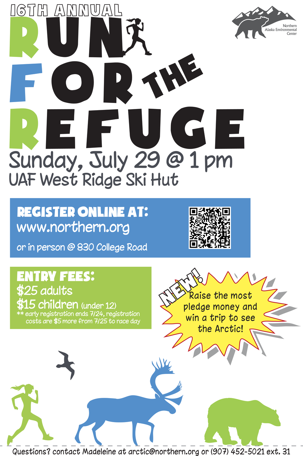"Run for the Refuge 11"" x 17"" Poster"
