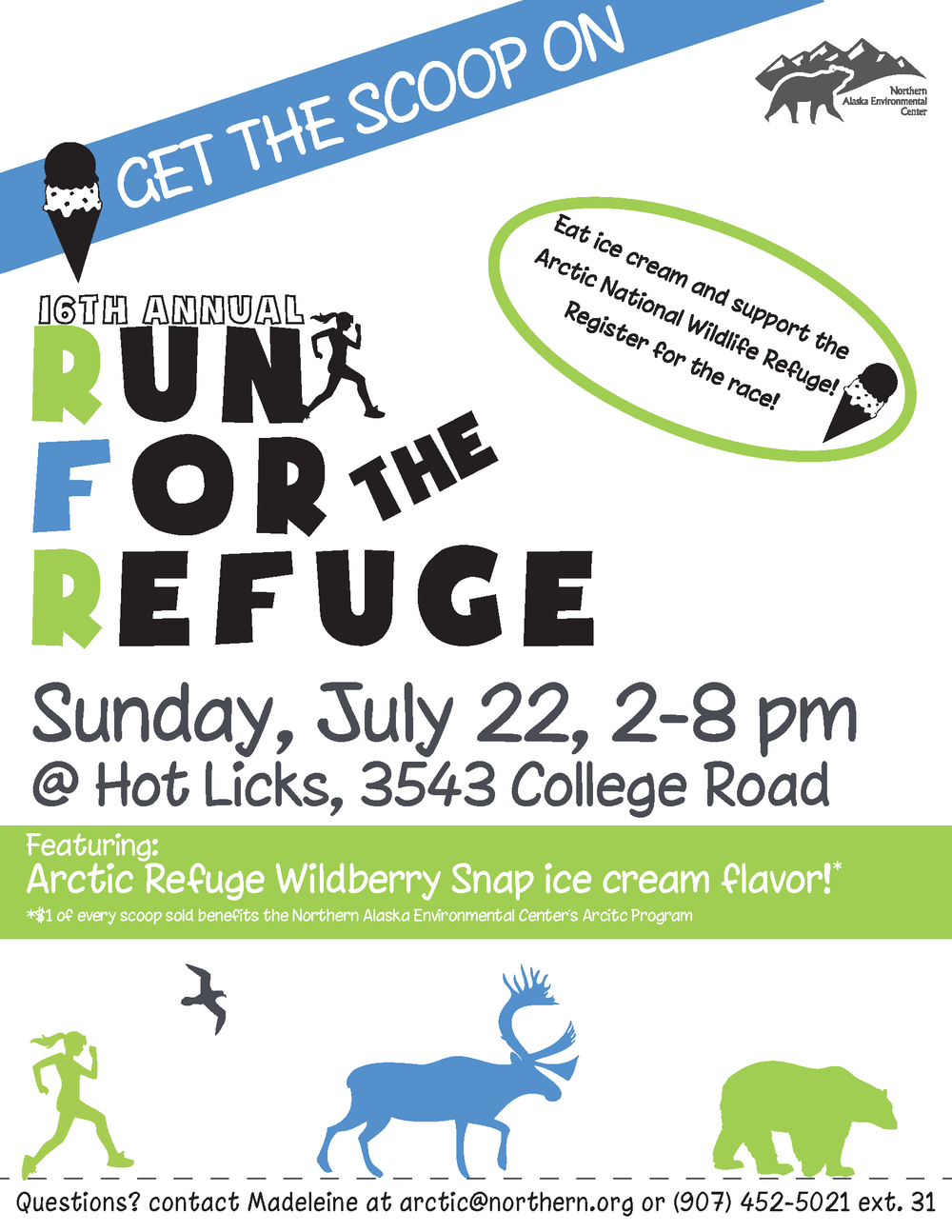 "Run for the Refuge 8.5"" x 11"" Poster"