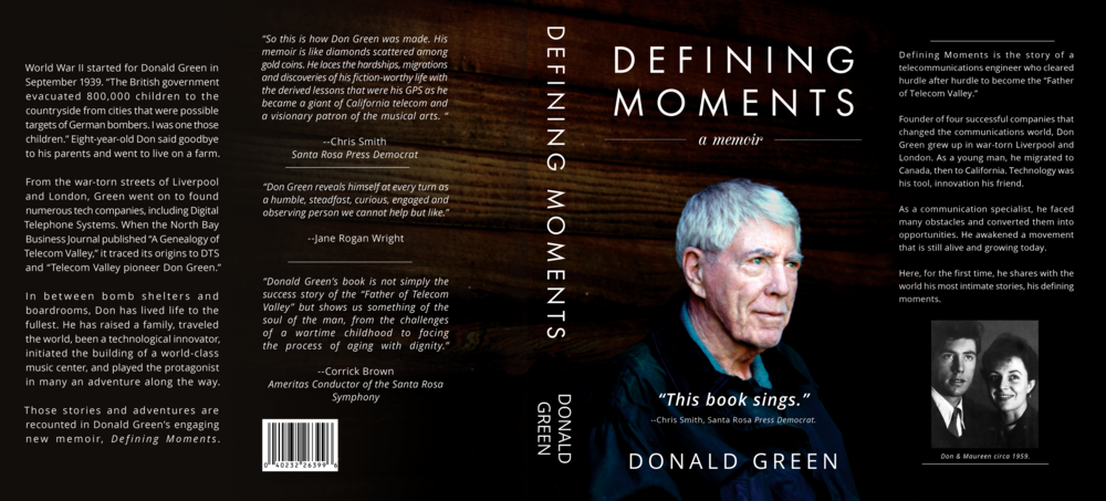 """Defining Moments: A Memoir"" Book Cover"