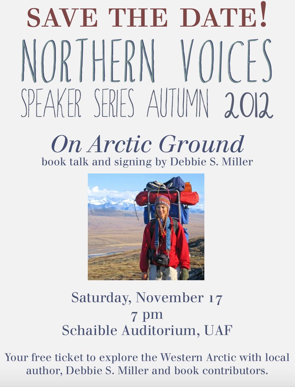Northern Voices Speaker Series Flyer