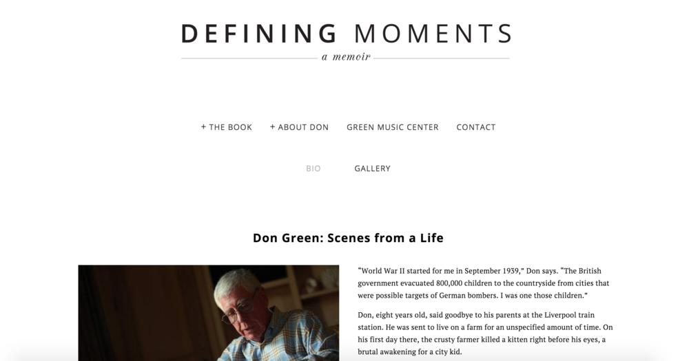 Defining Moments: A Memoir