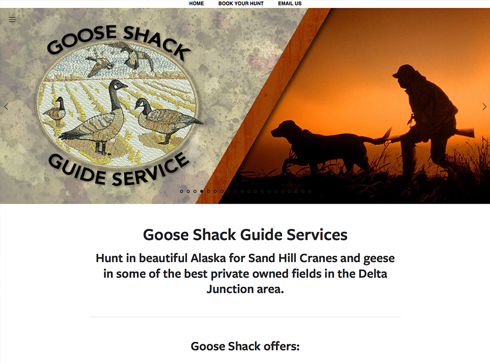 Goose Shack Guide Service