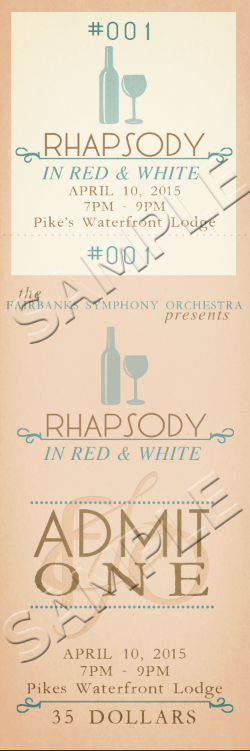"Ticket<a href=""#"">◉</a><strong>Rhapsody in Red & White</strong>"
