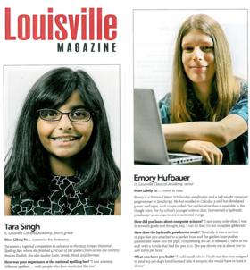 Tara Singh Louisville Super Kids Emory Hufbauer